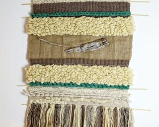 100% wool handmade wall hanging