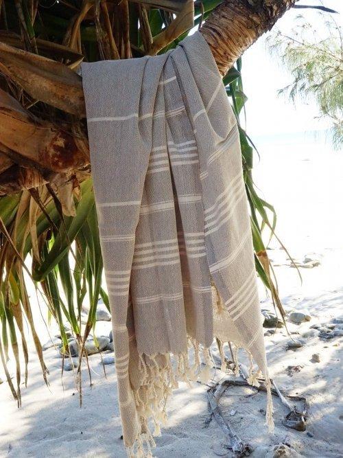 Vintage Charcoal Turkish Towel on tree