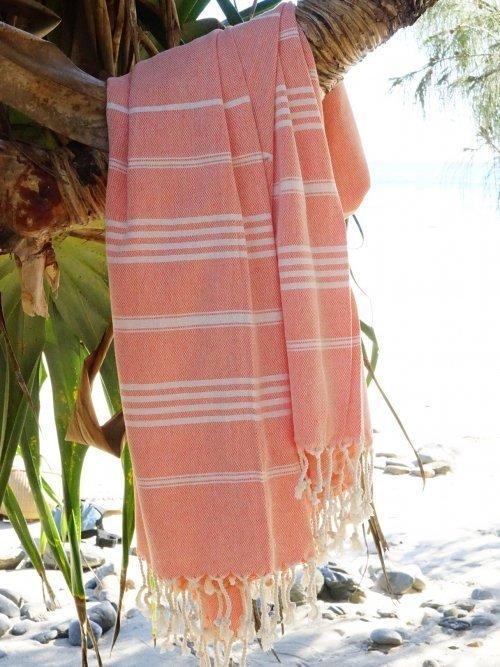 Vintage Orange Turkish Towel on tree