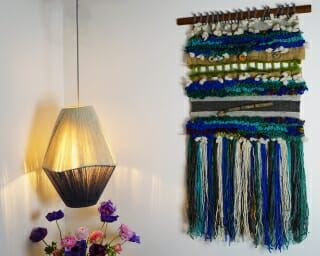 santiago wall hanging with woollen light