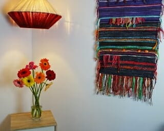 valdivia wall hanging with woollen light