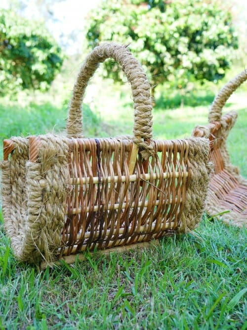 small handmade wicker basket