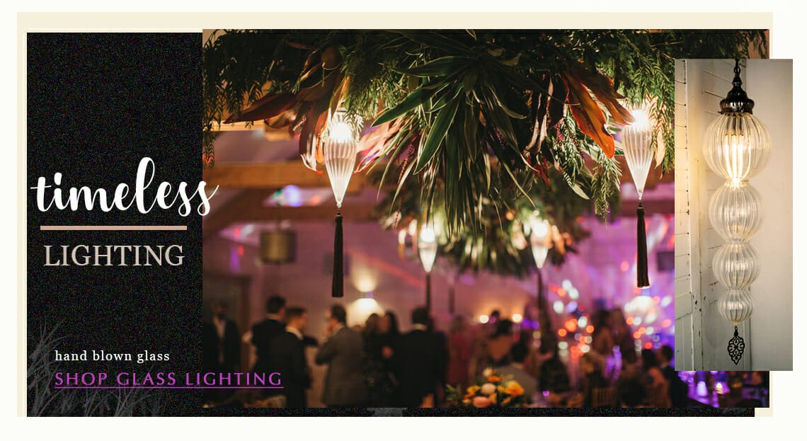 wedding hire, events, glass lighting