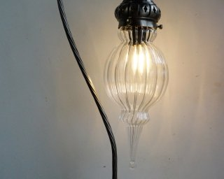 The Bauble Hand Blown Glass Table Lamp light on