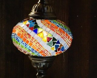 Fan Mosaic Table Lamp