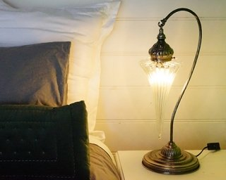 Hand Blown Glass Table Lamp
