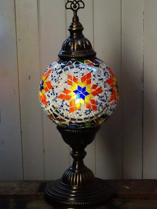 Owl Moroccan mosaic table lamp