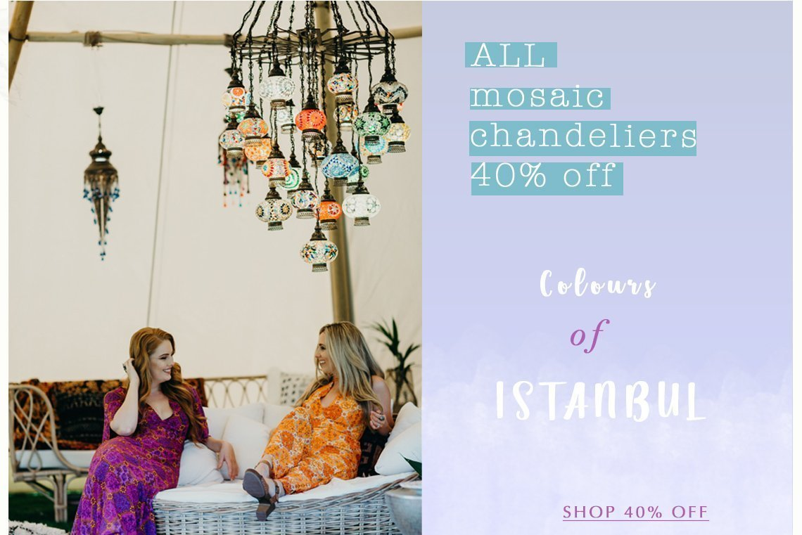 Turkish mosaic chandelier