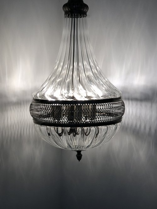 The Ava hand blown glass pendant light