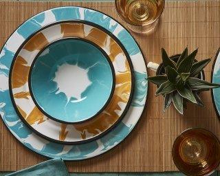 A little Colour Enamel tableware