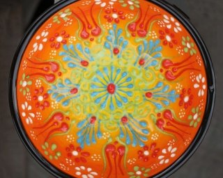 hand painted multicoloured ceramic bowl from Turkey