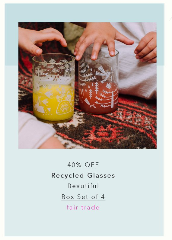 recycled glasses box set