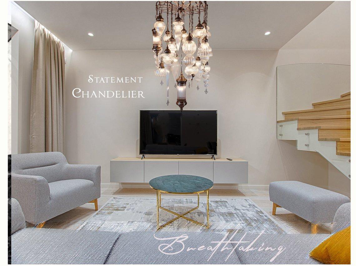 statement unique chandeliers glass iron lighting