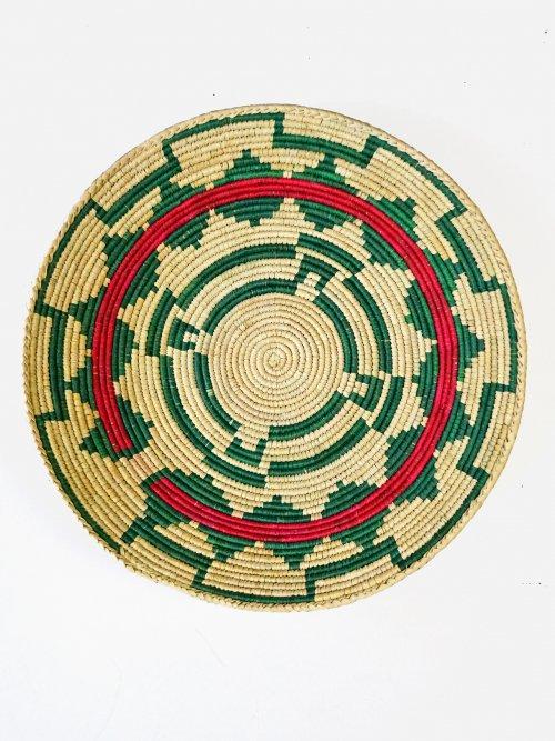 Wicker Hanging Wall Basket Coptic Green
