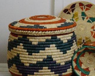 medium wicker basket with lid