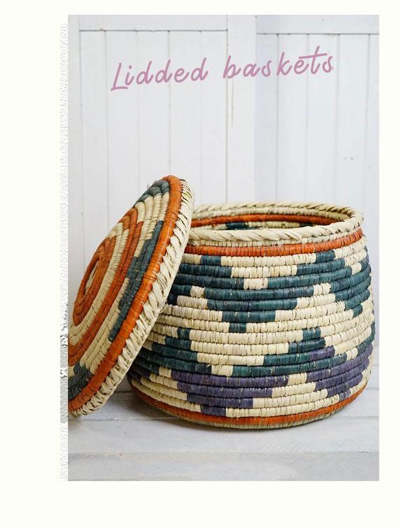 Lidded baskets